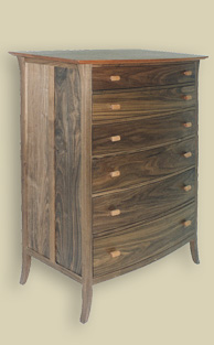 Custom furniture by Carl Schlerman of Essence Woodworks