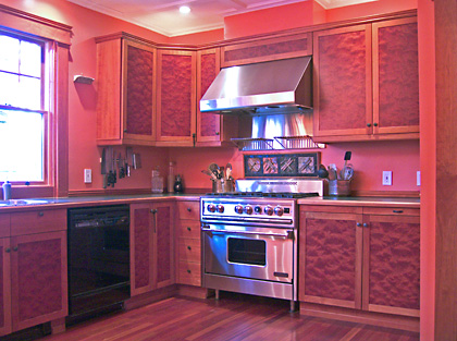 Custom kitchen cabinetry by Carl Schlerman of Essence Woodworks